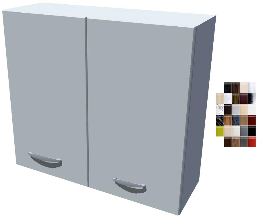 Lesklá horní skříňka 80 cm