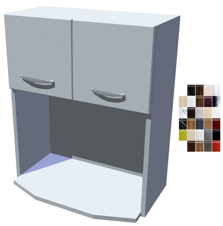 Lesklá skříňka na mikrovlnku 60 cm