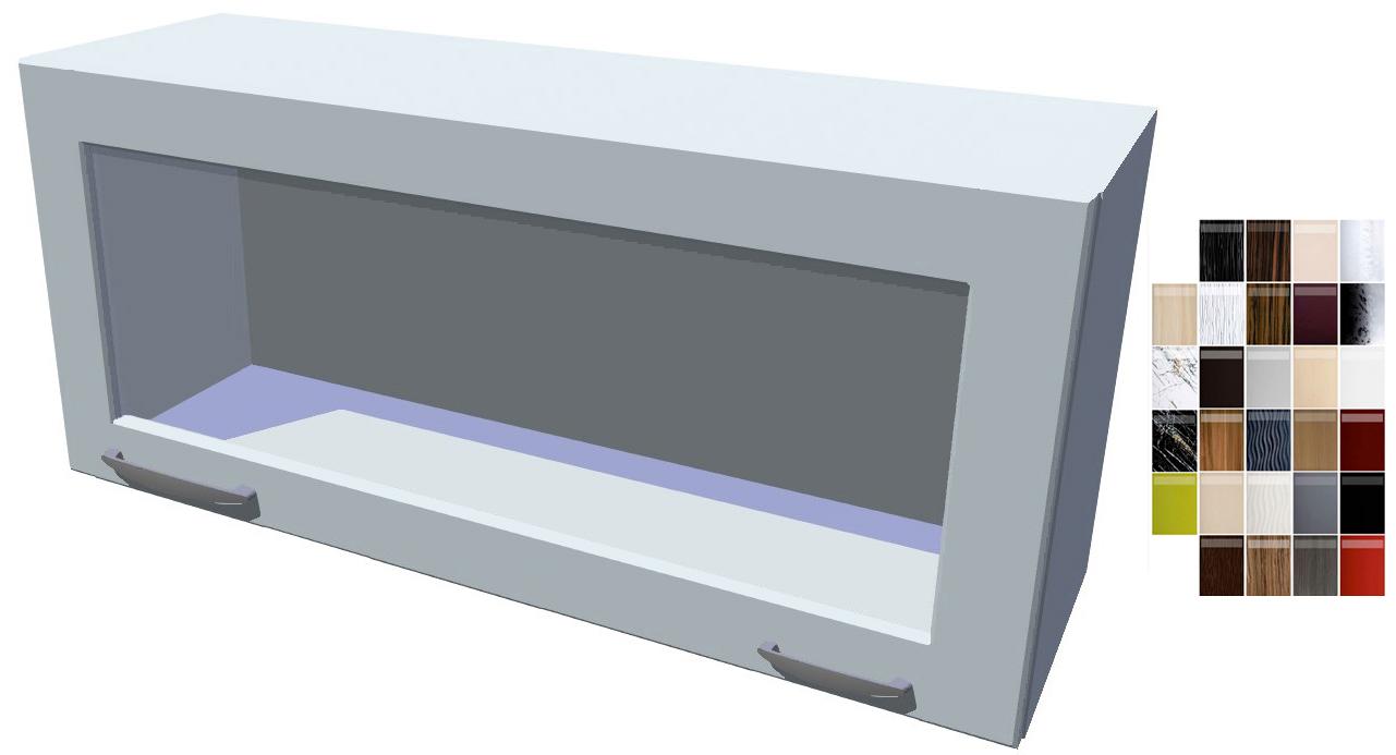 Lesklá skříňka výklopná prosklená Carmen 90 cm