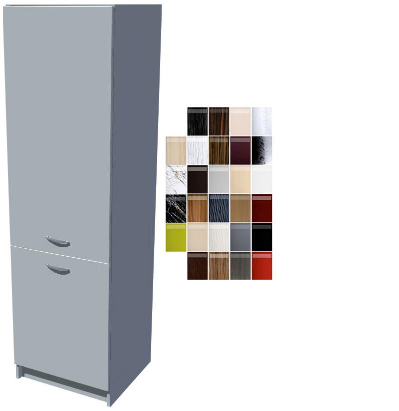 Lesklá skříň na vestavěnou lednici