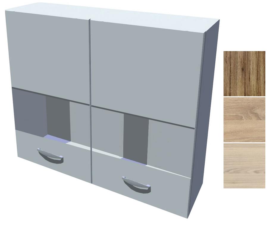 Horní skříňka - vitrína Iga 80 cm 2D