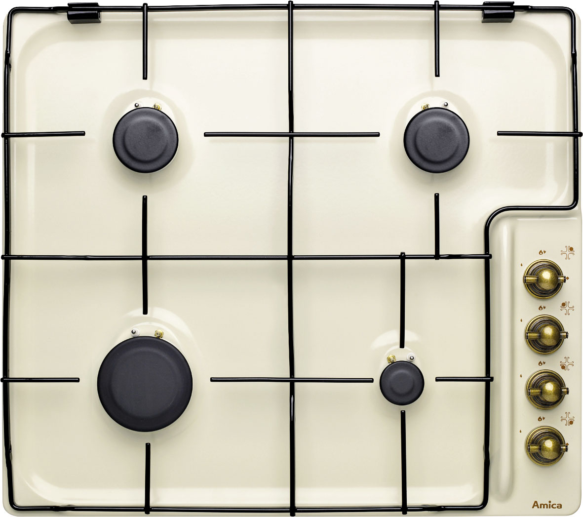 Rustikální vestavná plynová varná deska AMICA PG 7521 ECO