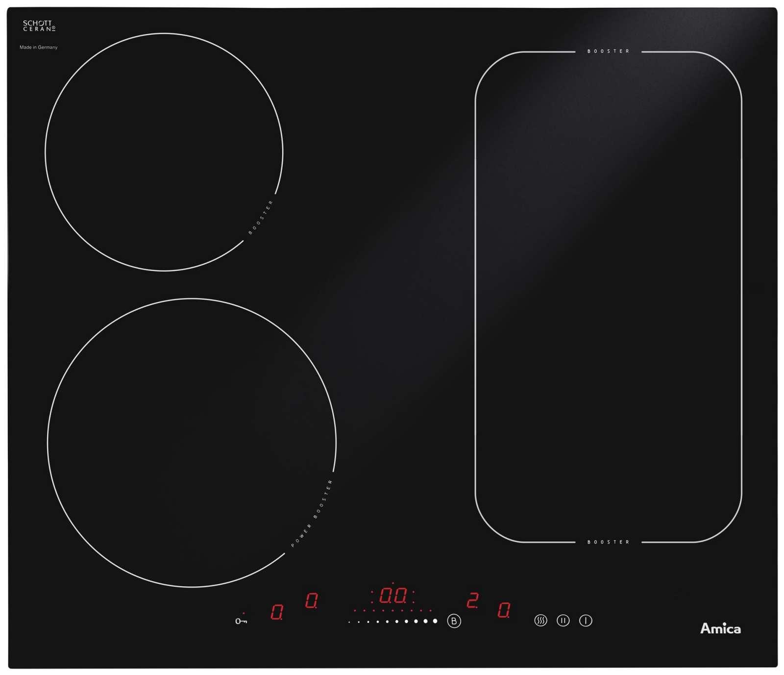 Vestavná indukční varná deska AMICA DI 6411 SBB