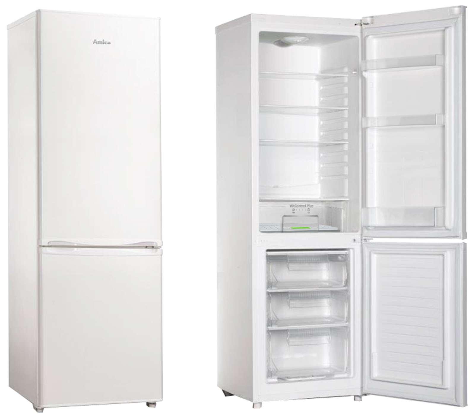 Volně stojící kombinovaná chladnička AMICA VC 1702 W
