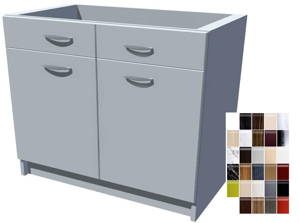 Lesklá kuchyňská skříňka s šuplíky 100 cm