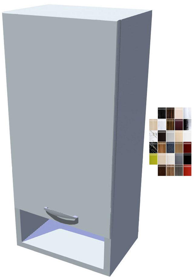Lesklá horní skříňka Carmen 30 cm s poličkou