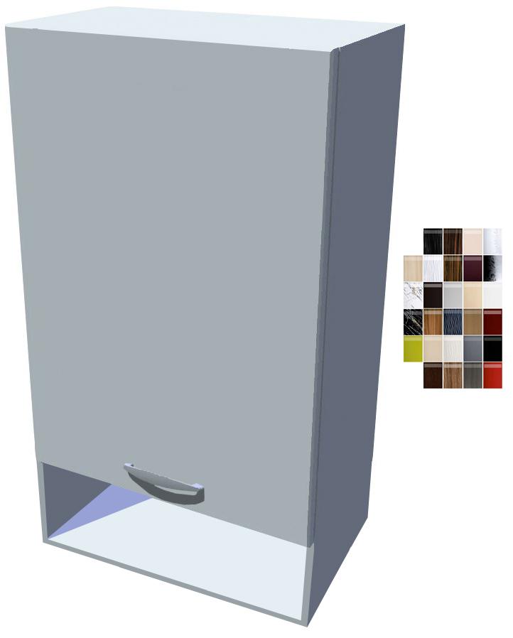 Lesklá horní skříňka Carmen 50 cm s poličkou