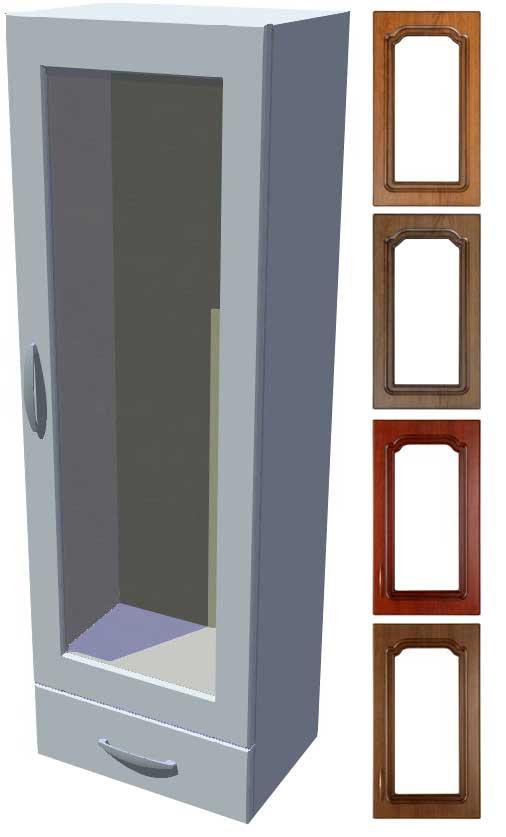 Rustikální stojací vitrína se šuplíkem Bolero výška 121 cm