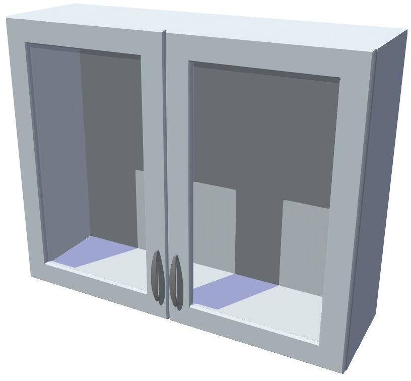 Horní kuchyňská skříňka prosklená 90 cm 2D