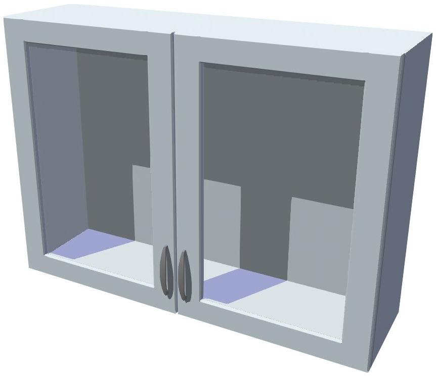Horní kuchyňská skříňka prosklená 100 cm 2D