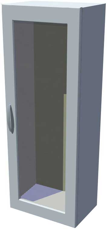 Horní stojací skříňka prosklená 40 cm výška 121 cm