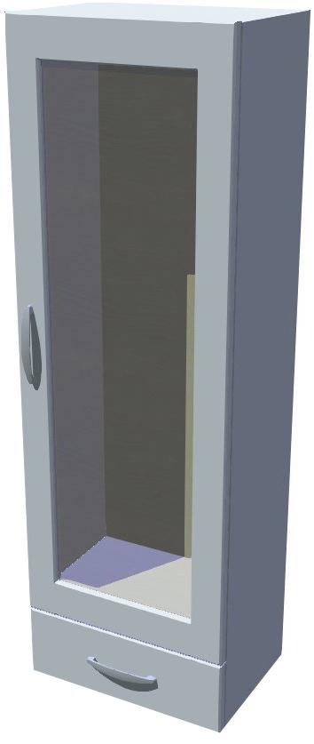 Horní stojací skříňka prosklená se šuplíkem 40 cm výška 121 cm