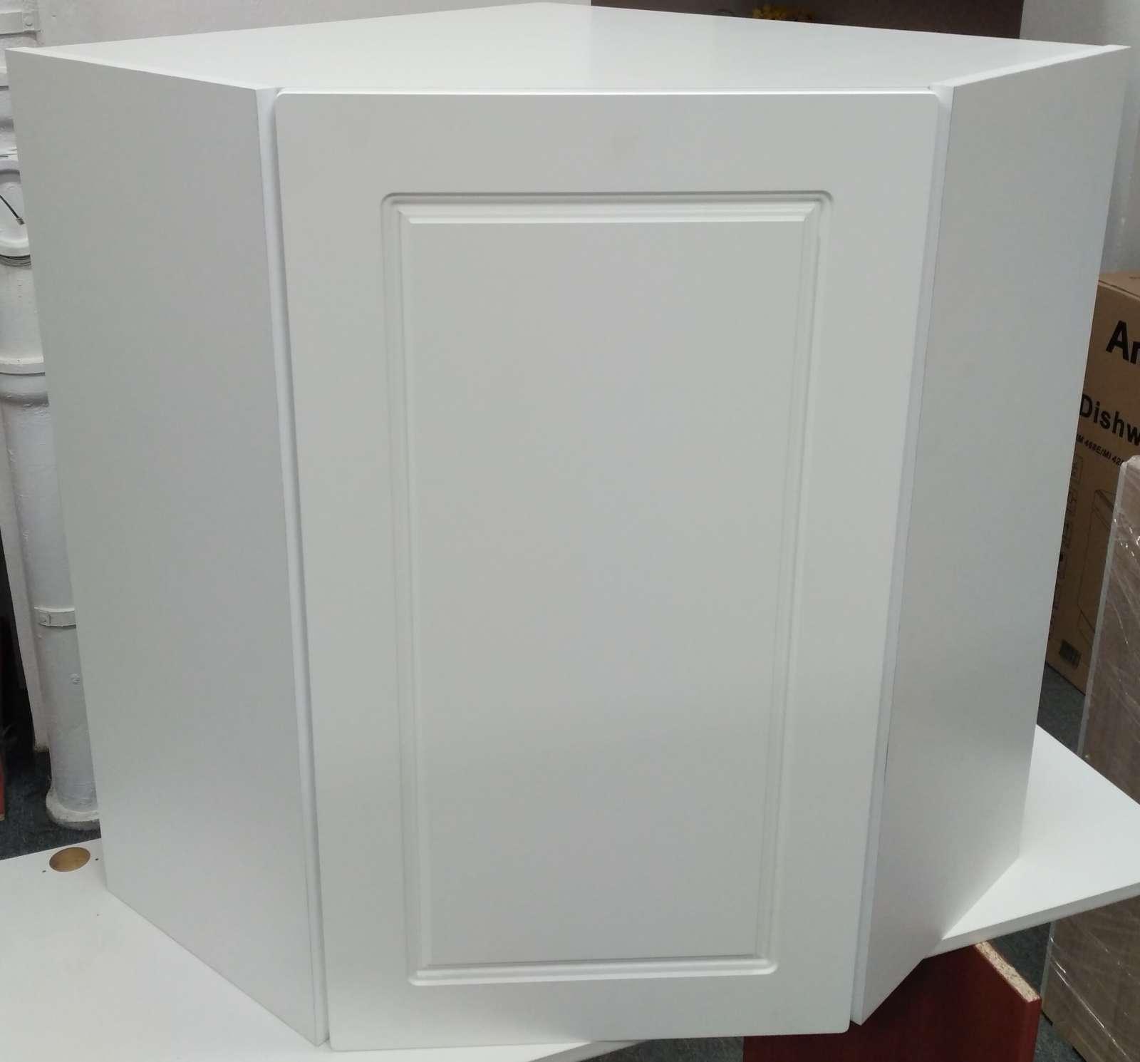 Horní rohová skříňka Diana bílá - výprodej