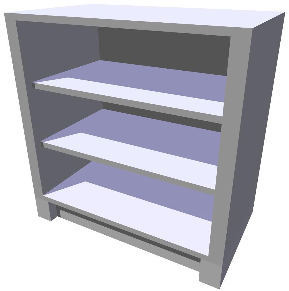 Spodní policová kuchyňská skříňka 80 cm