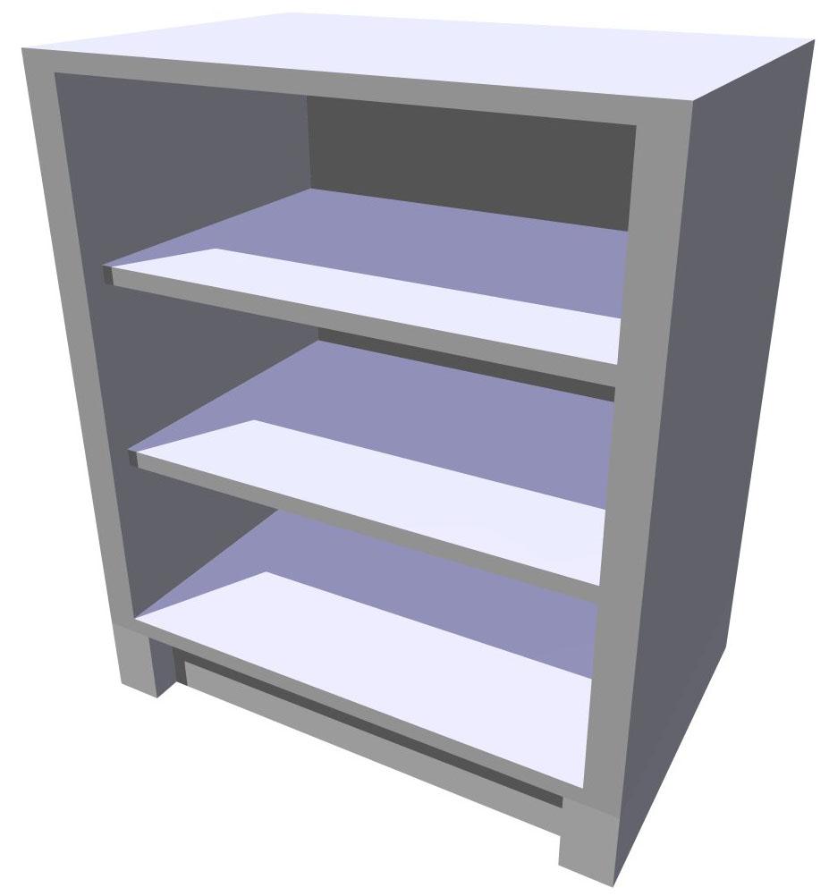 Spodní policová kuchyňská skříňka 70 cm