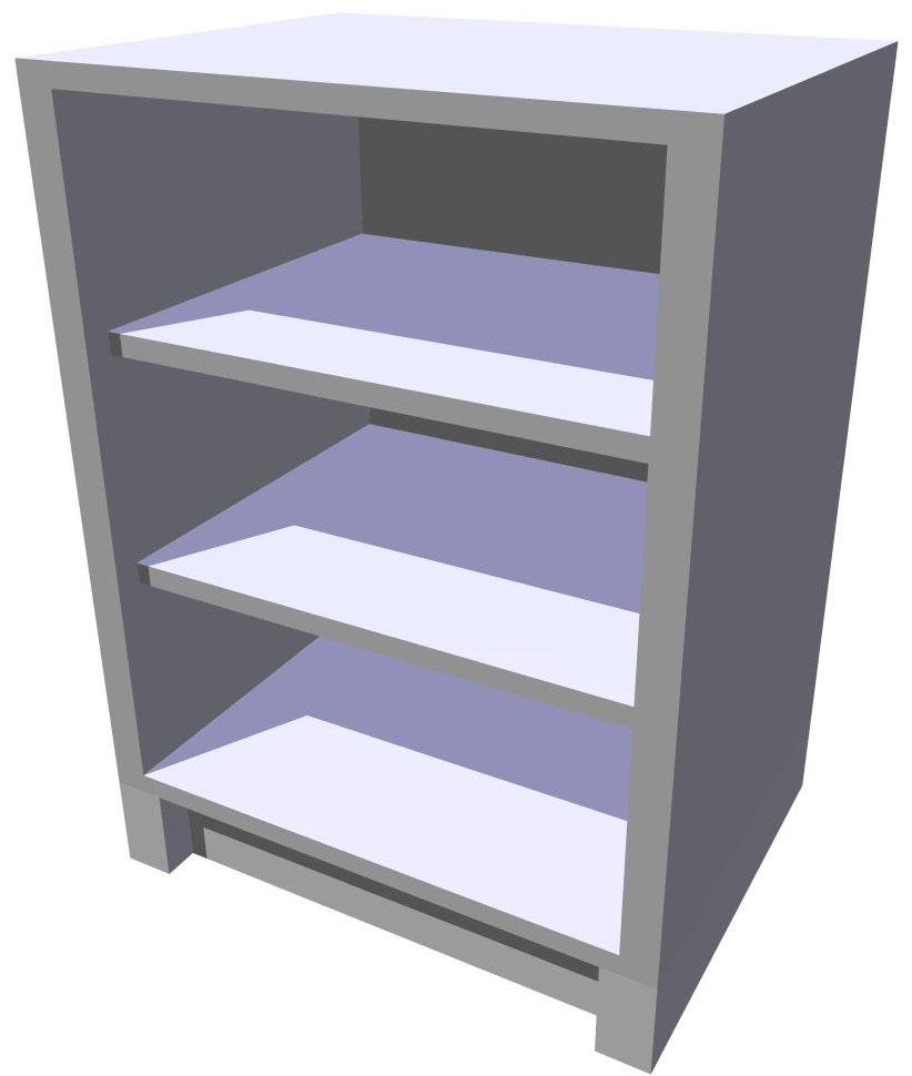 Spodní policová kuchyňská skříňka 60 cm