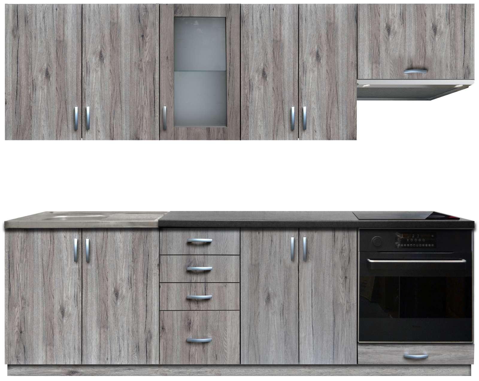 Kuchyňská linka s dřezem Baworka 240 cm sanremo