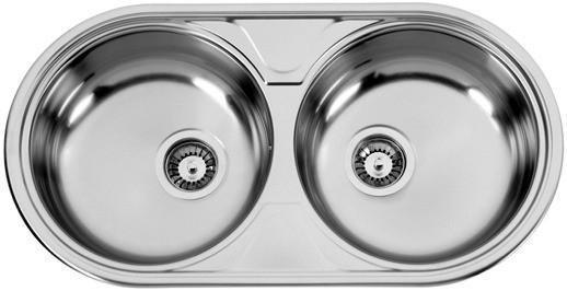 Sinks DUETO 847 V 0,6mm texturovaný