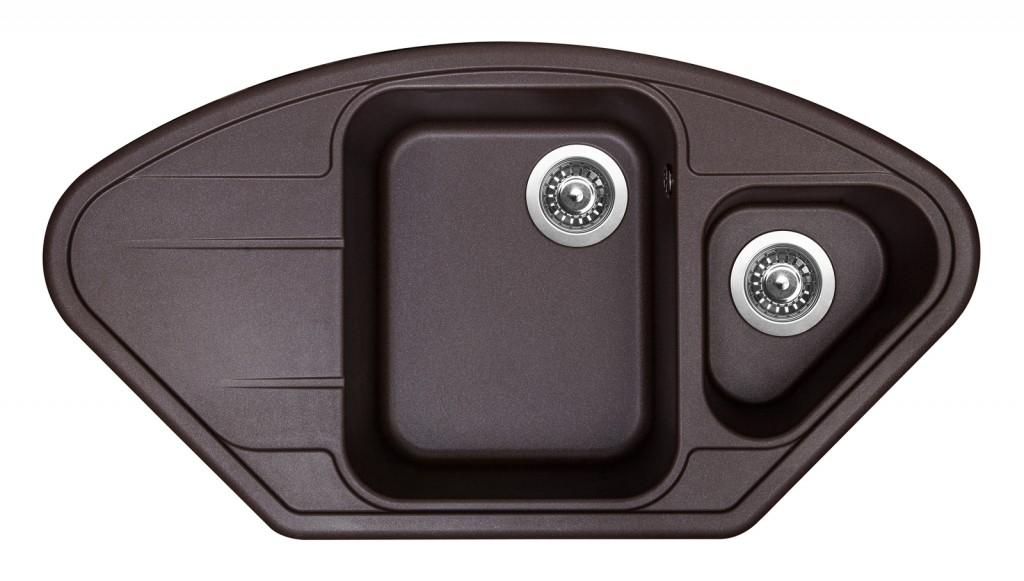 Sinks LOTUS 960.1 Marone + Sinks MIX 3 P - 93 Marone