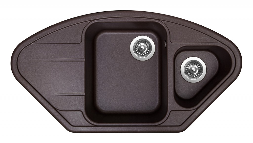Sinks LOTUS 960.1 Marone + Sinks MIX 35 - 93 Marone