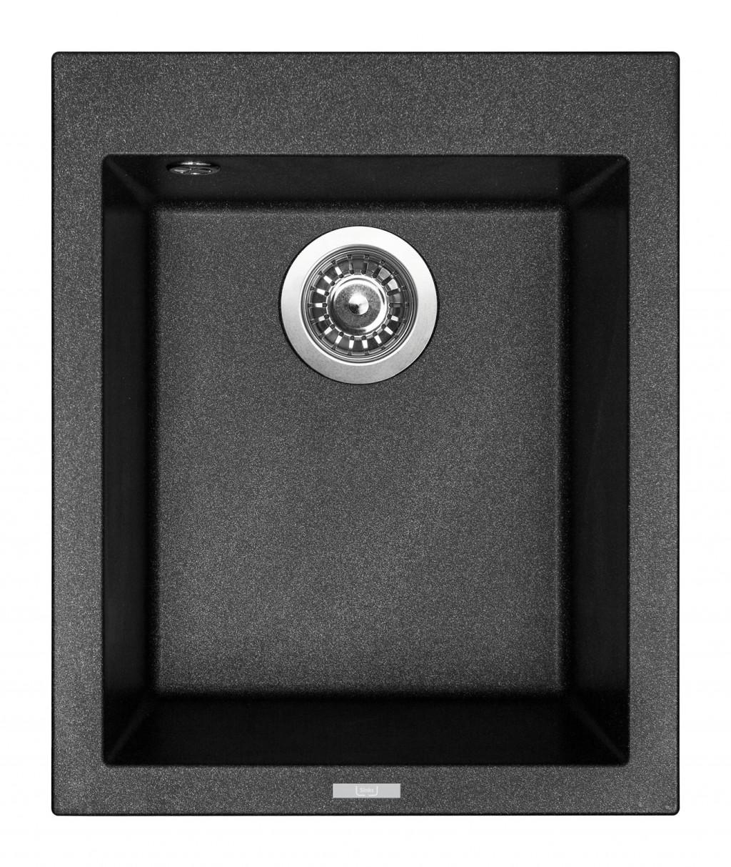 Sinks CUBE 410 Metalblack
