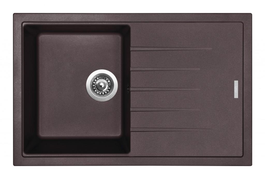 Sinks BEST 780 Marone + Sinks MIX 3 P - 93 Marone
