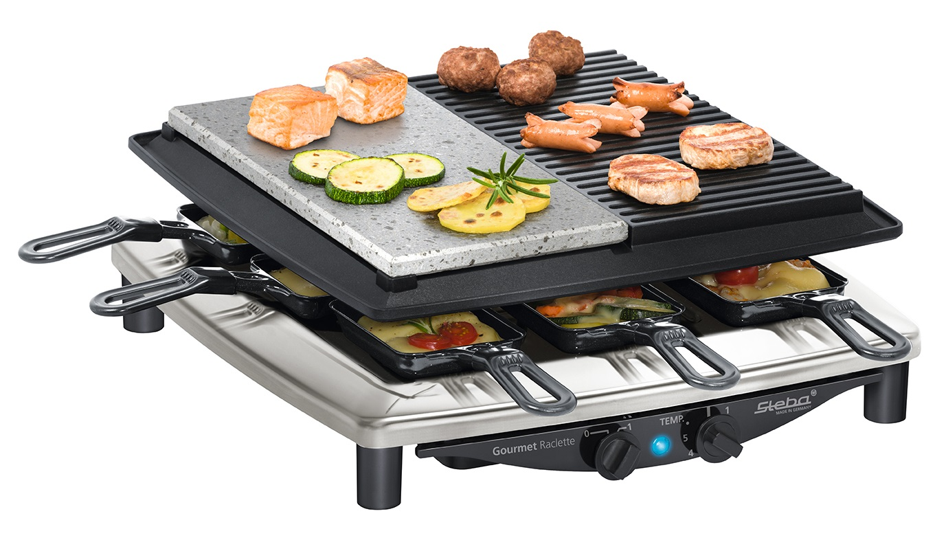 Raclette gril Steba RC 4 Plus Deluxe Chrome
